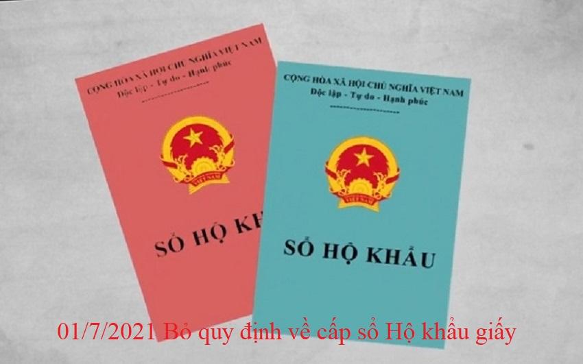 bo so ho khau - Chính thức bỏ sổ hộ khẩu giấy từ 01/7/2021