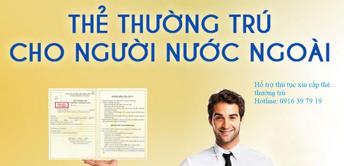 cap the thuong tru - Thủ tục cấp thẻ thường trú cho người nước ngoài