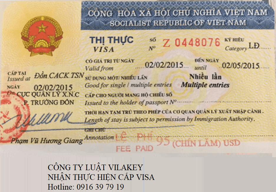 cap visa - Thủ tục cấp Visa tại Việt Nam