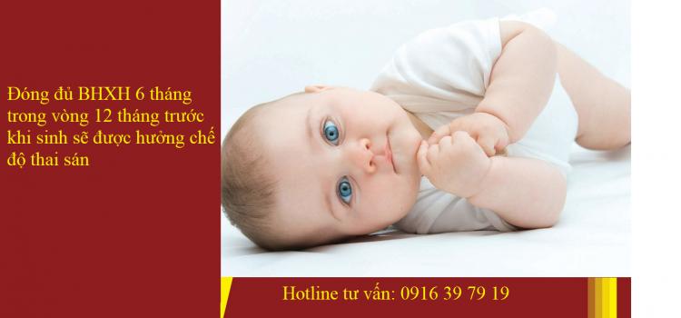 Chế độ thai sản khi sinh con