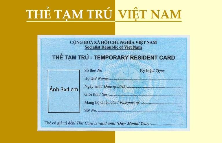 thu tuc cap the tam tru - Cấp thẻ tạm trú cho người nước ngoài