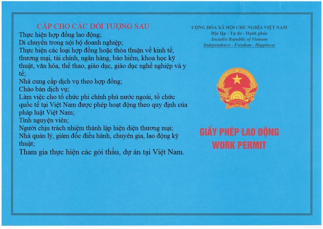 giay phep lao dong - Giấy phép lao động cho người nước ngoài